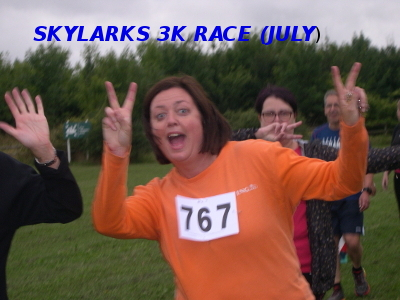Skylarks 3K race, Wednesday July 26th 2017